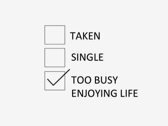 being happy single
