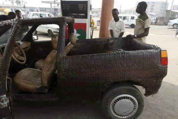 Hand-woven car