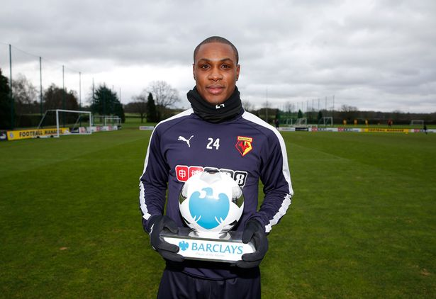 Nigeria's Odion Ighalo Wins EPL Player Of The Month Award