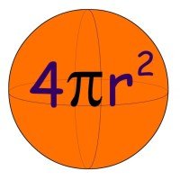 4 pi r squared