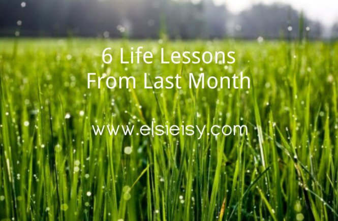 Lessons From October - elsieisy blog