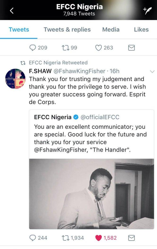 efcc twitter handler revealed - elsieisy blog