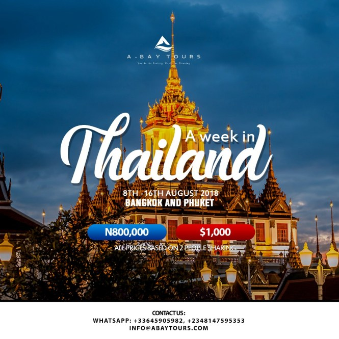 Thailand Travel package - abaytours - elsieisy blog