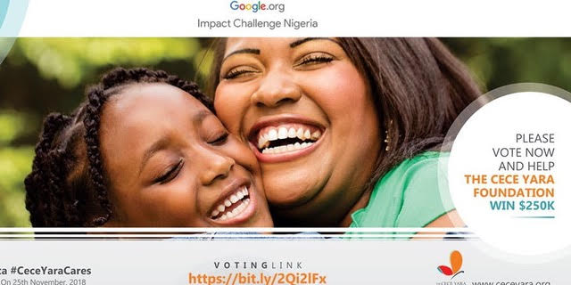 Cece yara foundation - Saving Nigerian Children from sexual abuse - Google Impact challenge - elsieisy blog