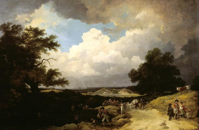 A Distant Hail-Storm Coming On, and the March of Soldiers with their Baggage 1799 Philip James De Loutherbourg 1740-1812 Presented by the Art Fund 1942 http://www.tate.org.uk/art/work/N05389