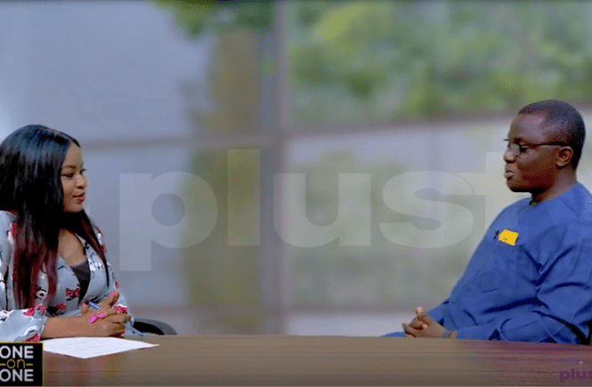 Elsie Godwin and Onyeka Akumah at Plus TV Africa - elsieisy blog