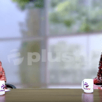 Elsie Godwin and Ibinabo Fiberesima on Plus TV Africa One on one set - elsieisy blog