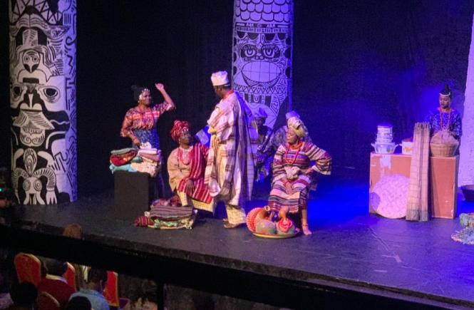 #MTNTheatre2021 #MTNxDeathAndTheKingsHorseman - Death and the King's Horseman - Wole Soyinka – Bolanle Austin Peters – MTN Foundation – Elsieisy blog
