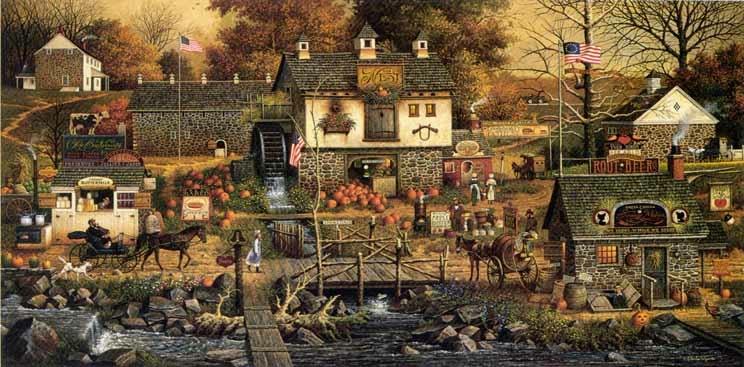 Olde Bucks Country by Charles Wysocki