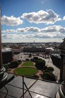 Panorama view vanaf Sint Isaac kathedraal Sint Petersburg
