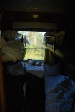 Slaapcabine TransMongolië express