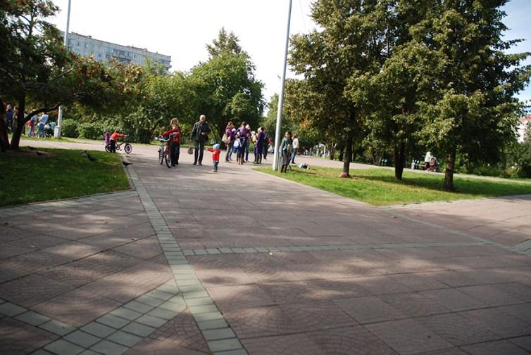Narymskiy skver Novosibirsk kinderen spelen