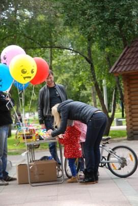 Narymskiy skver Novosibirsk markt