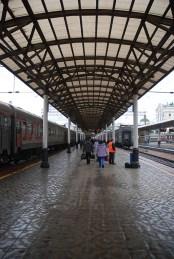 Station trein Novosibirsk naar Irkutsk