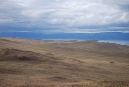 Uitzicht op Olchon eiland Rusland Baikalmeer