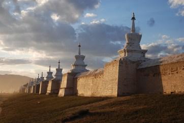Erdene zuu klooster Kharkhorin Mongolië muur