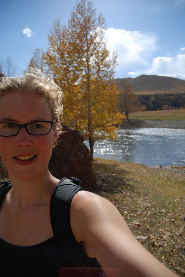 Orkhon valley nationaal park Mongolië selfie
