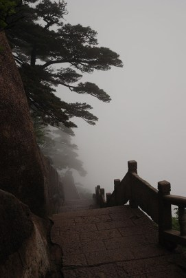 Huangshan Gele bergen trappen