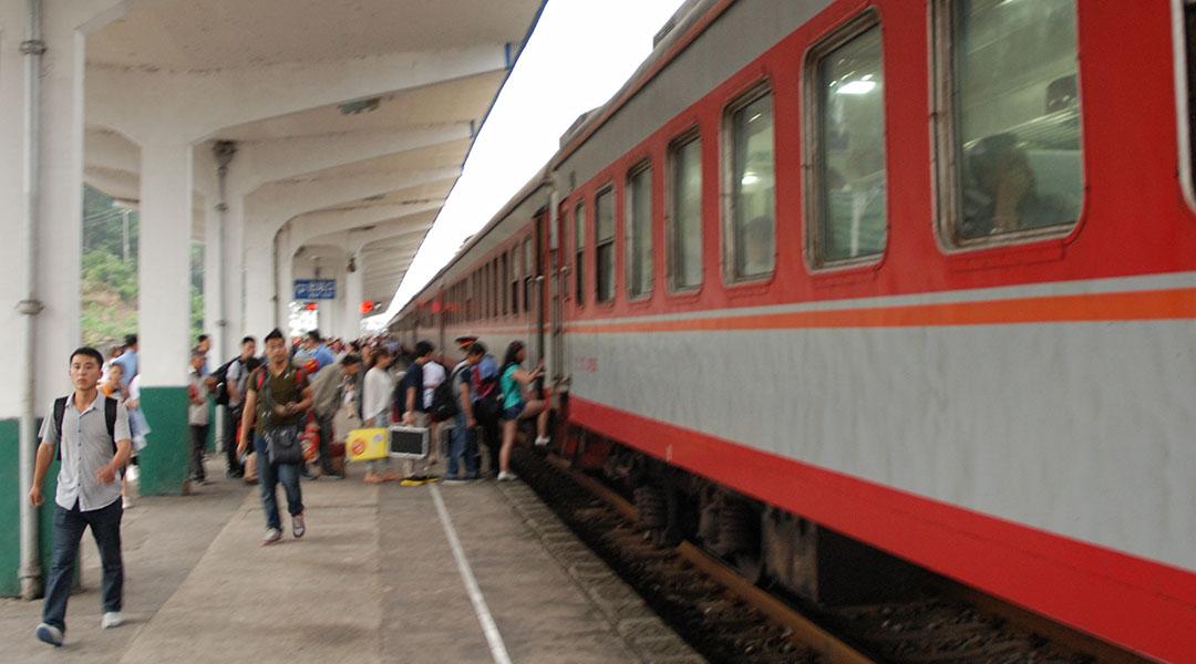 Trein van Huangshan via Yingtan naar Guilin China