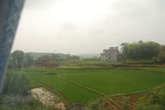 Uitzicht trein Huangshan Yingtan Guilin