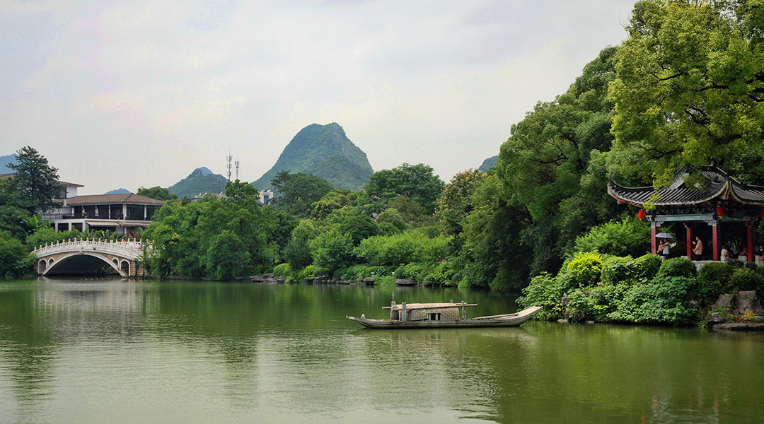 Ronghu Shanhu lake Guilin China