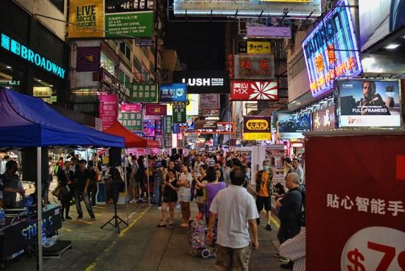 Hong Kong in de avond