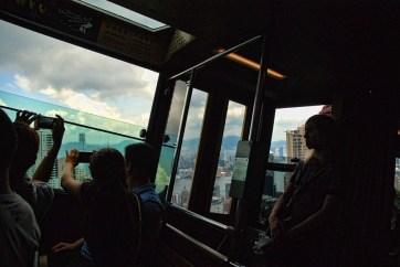 Peak tram Hong Kong toeristen