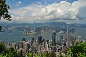 Victoria peak Hong Kong uitzicht op de stad