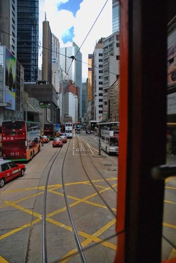 Dubbeldekker tram Hong Kong