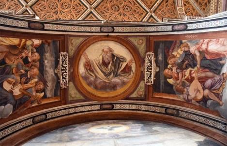 Schildering in een kerk in Milaan Italië
