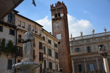 Verona Italië Piazza Erbe