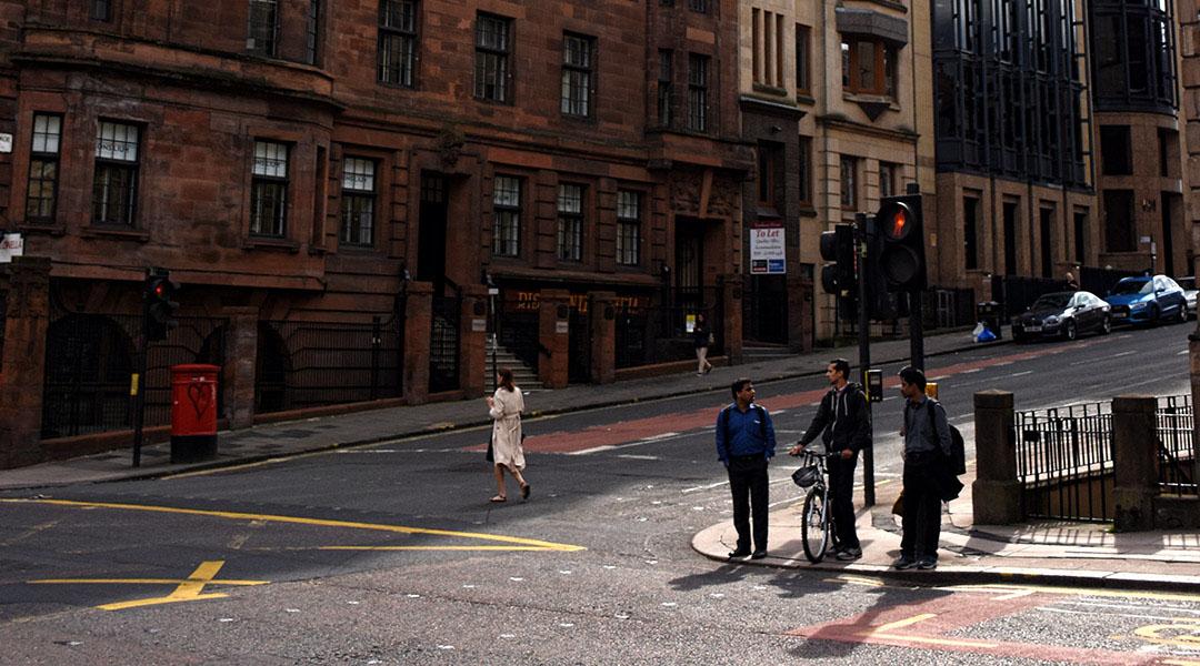 Schotland Glasgow straatbeeld