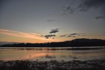 Terugreis zonsondergang Glasgow Schotland