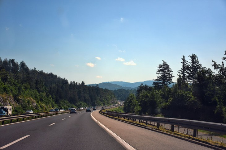 Weg van Ljubljana naar Bled
