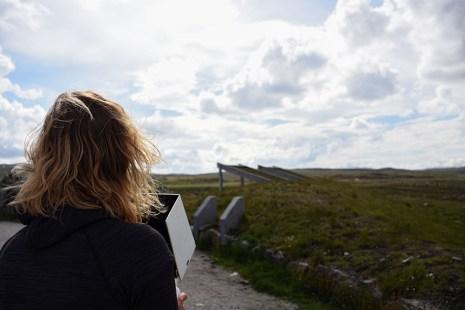 Vliegen met de drone boven de Hardangervidda Noorwegen