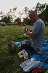 Pannenkoeken bakken op de camping in Noorwegen
