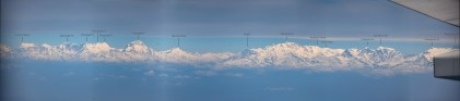 Annapurna Dhaulagiri Himalaya vanuit het vliegtuig