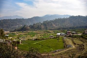 Busrit in Nepal van Kathmandu naar Nuwakot uitzicht