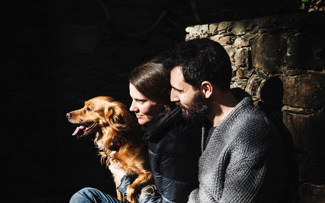 """Fotógrafo de mascotas """"10 años juntos, Buster, Teresa & Alex"""""""