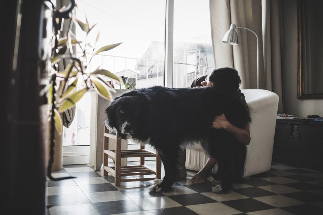 ariadna creus y su perro trico