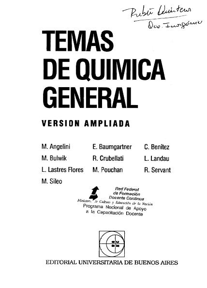 TEMAS DE QUIMICA GENERAL ANGELINI DOWNLOAD