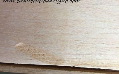 Quitar hendidura en la madera