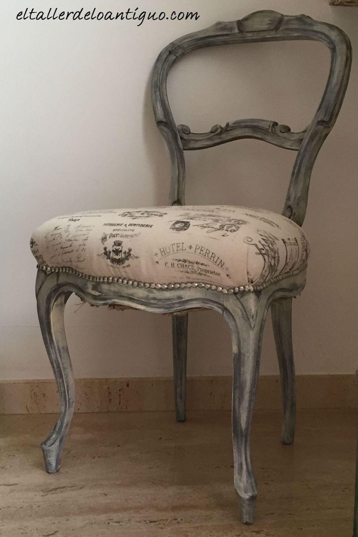 Transfers en tela la madera parte 2 el taller de lo - Materiales para tapizar una silla ...