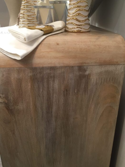 Pátina Blanca sobre madera natural