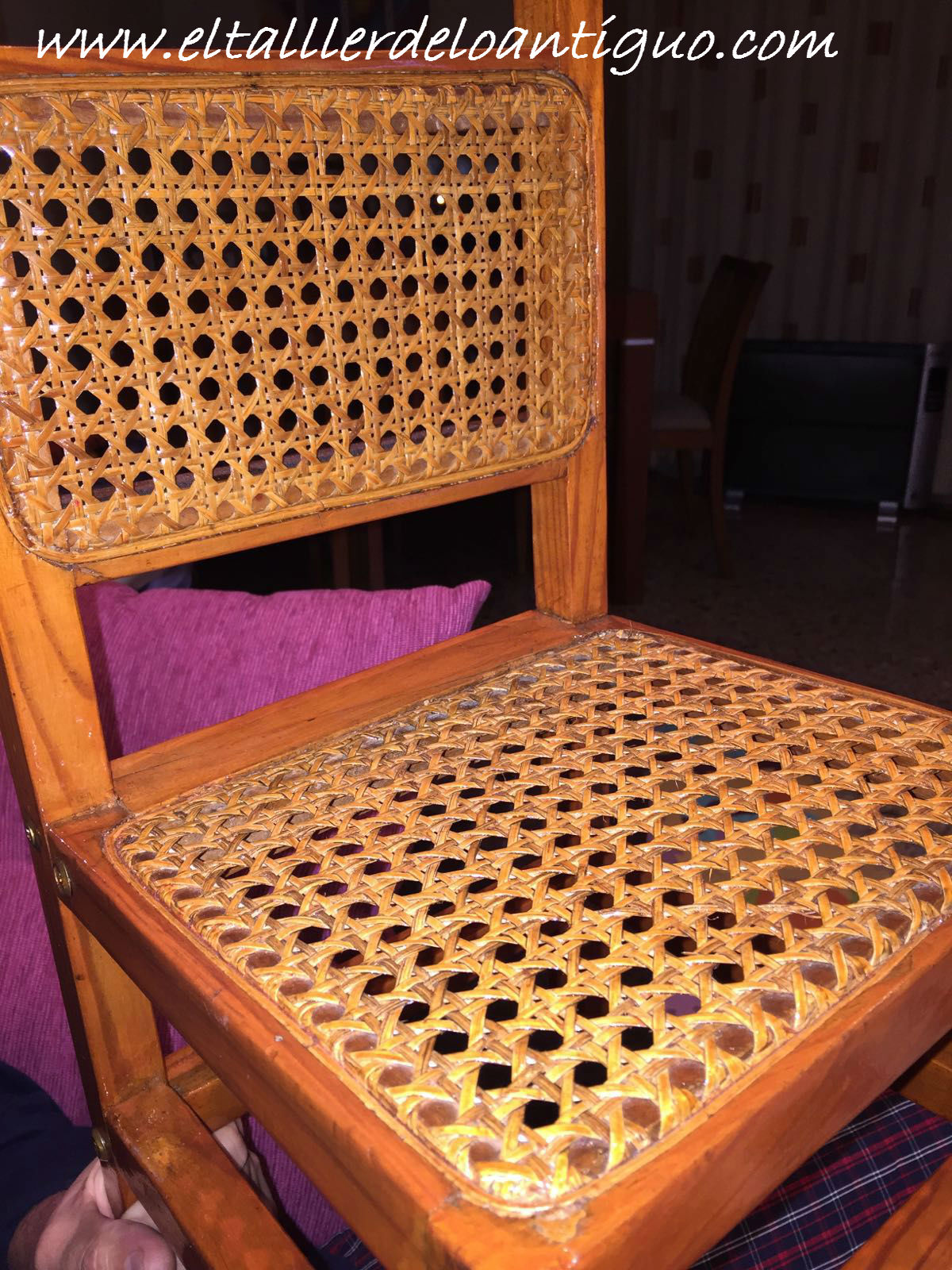 Reparar silla de rejilla  El Taller de lo Antiguo