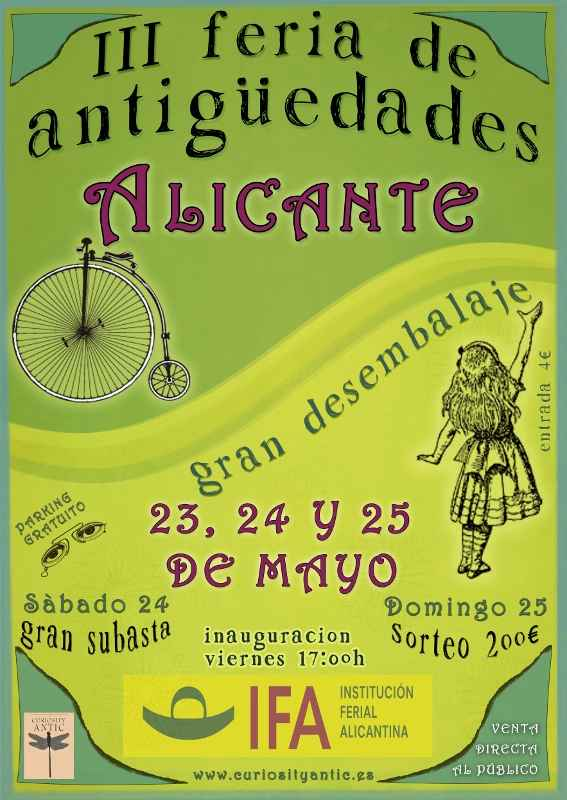 cartel_feria antiguedades alicante