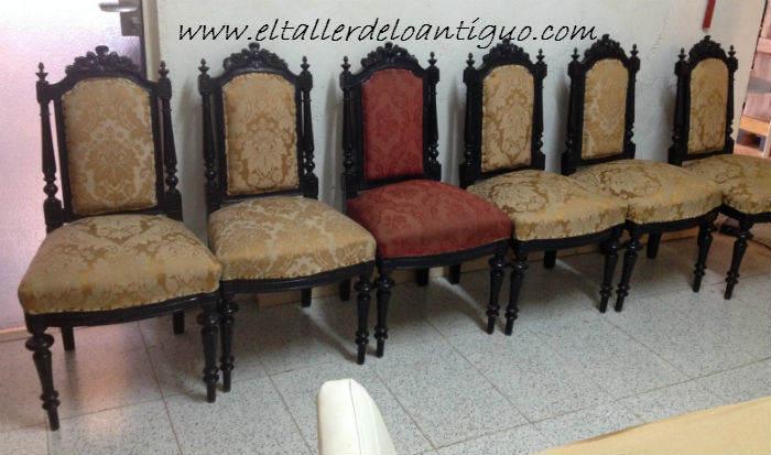 Pintar sillas decape blanco el taller de lo antiguo - Pintar sillas de madera ...