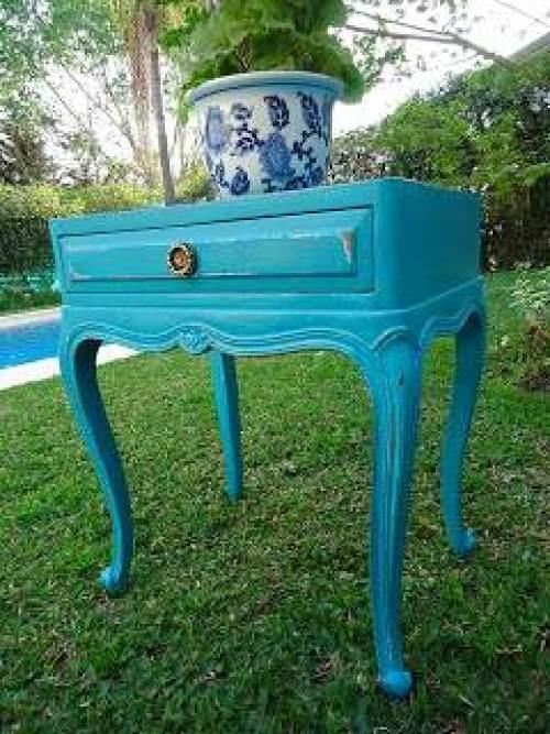 Pintar muebles de Azul Turquesa - **El Taller de lo Antiguo
