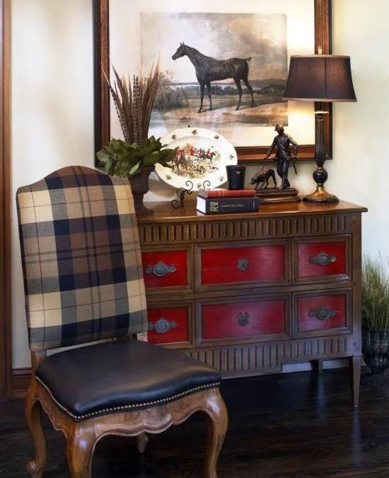 Pintar muebles de rojo Toscana