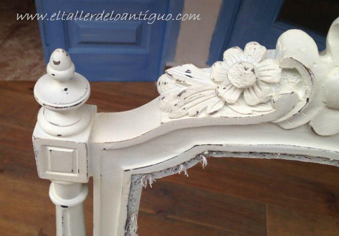 Pintar sillas decape blanco  El Taller de lo Antiguo